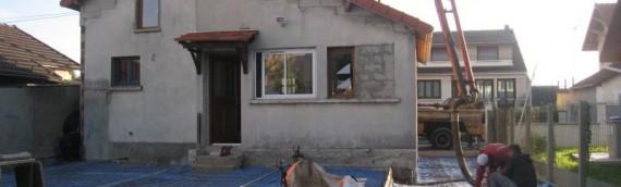 Création d'une terrasse chez un particulier en proche banlieue